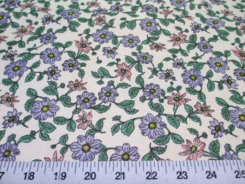 Discount Fabric Cotton Apparel Pink, Blue and Green Floral 308K