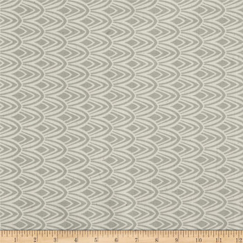 Discount Fabric Richloom Upholstery Drapery Notus Flax Geometic Scales Grey 45LL