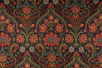 Discount Fabric Richloom Upholstery Drapery January Licori Paisley Floral 13MM