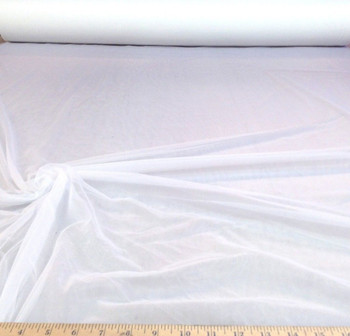 Discount Fabric Stretch Voile White 108 inch Sheer 50 yard Lot PAY101
