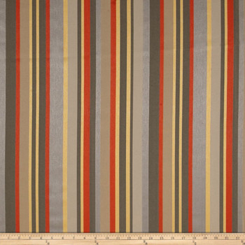 Discount Fabric Richloom Indoor Outdoor Olefin Kauai Graphite Stripe 35MM