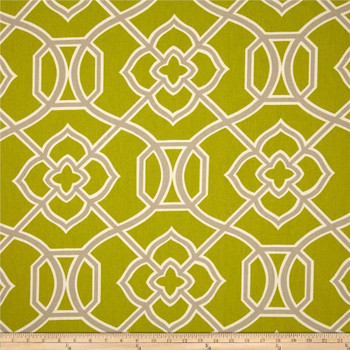 Discount Fabric Richloom Upholstery Drapery Malibar Peridoe Green Geometric 43MM