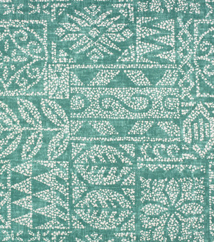 Discount Fabric Richloom Solarium Indoor Outdoor Danul Patina Green Tribal 11NN
