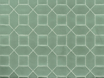 Discount Fabric Richloom Upholstery Drapery Linen Hyde Mint Jacquard 41NN