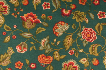 Discount Fabric Richloom Upholstery Drapery Mystery Grotto Green Floral 42QQ