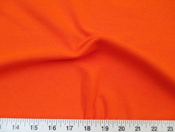 Discount Fabric Tubular Cotton Jersey Lycra Spandex Knit Orange 109TB