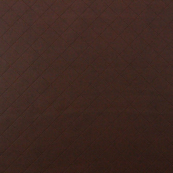 Fabric Richloom Tough Faux Leather Pleather Vinyl Gorman Saddle Diamond 30SS