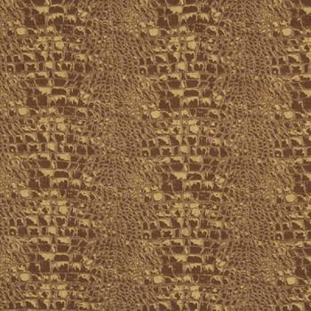 Fabric Robert Allen Beacon Hill Sobek Copper Silk & Wool Crocodile Drapery 24*J