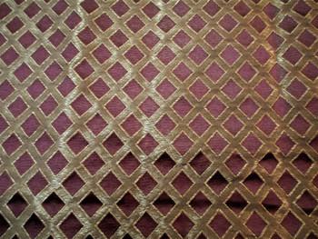 Fabric Robert Allen Beacon Hill Lattice Sheen Madeira Burgundy Silk Drapery 14*J