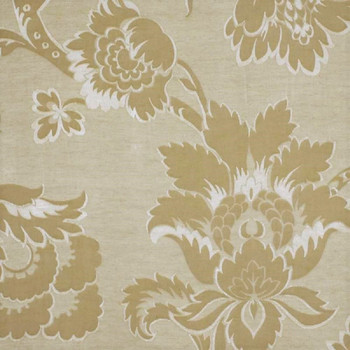 Fabric Robert Allen Beacon Hill Royal Leaf Champagne Linen Floral Drapery 20HH