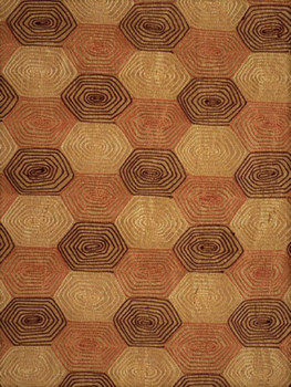 Fabric Robert Allen Beacon Hill Klint Russet 100% Silk Embroidered Drapery 22HH