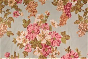 Fabric Robert Allen Beacon Hill Rosetto Sherbert Embroidered Floral Drapery 11II