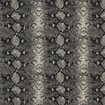 Fabric Robert Allen Beacon Hill Mia Black and White Snake Skin Silk Wool 20JJ