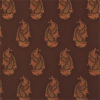 Fabric Robert Allen Beacon Hill Kimball Teak 100% Silk Embroirdered Drapery 11HH