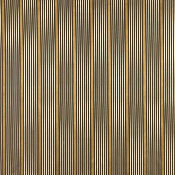 Fabric Robert Allen Beacon Hill Kelly Stripe Umber 100% Silk Stripe Drapery 34JJ