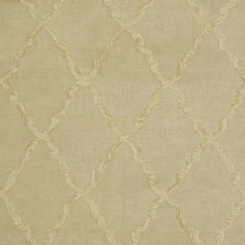 Fabric Robert Allen Beacon Hill Deblois Linen Embroidered Lattice Drapery 31II