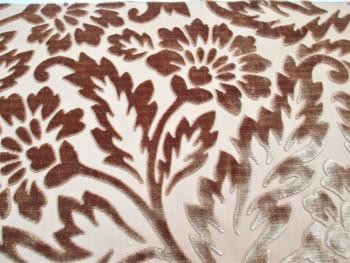 Fabric Robert Allen Beacon Hill Simran Topaz Silk Velvet Floral Upholstery 30*J