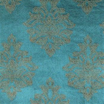 Fabric Robert Allen Beacon Hill Sea Rose Tourmaline Embroidered Silk Floral 31JJ