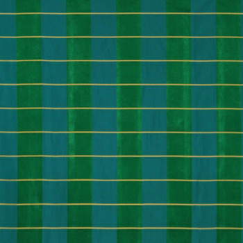 Fabric Robert Allen Beacon Hill Pallette Plaid Emerald 100% Silk Drapery 33JJ