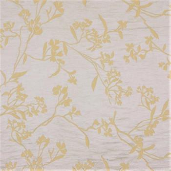 Fabric Robert Allen Beacon Hill Thale Cress Yellow Lotus Embroidery Silk 15II