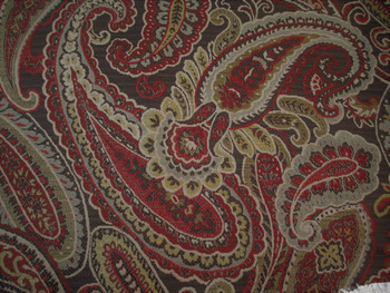 Fabric Richloom Upholstery Drapery Fenmore Spice Paisley Jacquard Tapestry 31FF