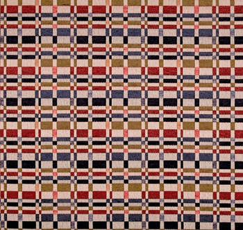 Discount Fabric Richloom Upholstery Drapery Prodigy Americana Chenille Plaid 3FF