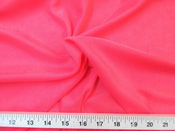 "Discount Fabric 108"" wide Aerial Silks Acrobatic Dance Stretch Tricot Dark Coral 10TR"