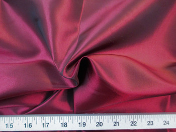 Discount Fabric Two Tone Iridescent Apparel Taffeta Burgundy 01Taf