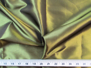 Discount Fabric Two Tone Iridescent Apparel Taffeta Olive Gold 09Taf