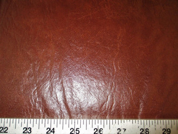 Discount Fabric Faux Leather Upholstery Pleather Vinyl Dark Brown 17PL