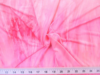 Discount Fabric Printed Lycra Spandex 4 way Stretch Pink Tie Dye 730LY