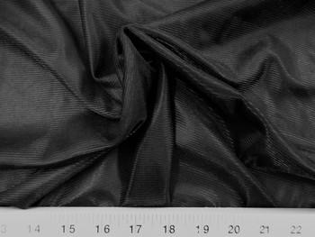 Discount Fabric Nylon 40 Denier Tricot Stretch Black 108 inch wide 15TR