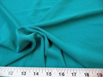 Discount Fabric Liverpool Textured 4 way Stretch Scuba Dark Jade 01LP