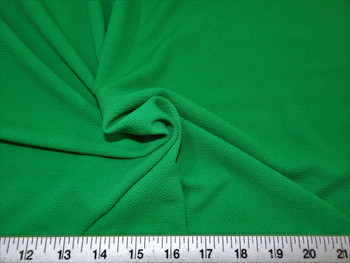 Discount Fabric Liverpool Textured 4 way Stretch Scuba Kelly Green 03LP