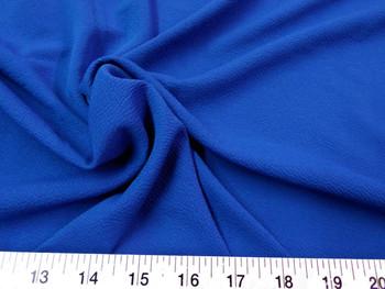 Discount Fabric Liverpool Textured 4 way Stretch Scuba Royal Blue 05LP