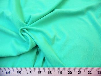 Discount Fabric Liverpool Textured 4 way Stretch Scuba Mint Green 06LP