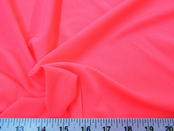 Discount Fabric Liverpool Textured 4 way Stretch Scuba Neon Pink 07LP
