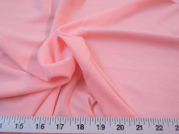 Discount Fabric Liverpool Textured 4 way Stretch Scuba Blush Pink 10LP