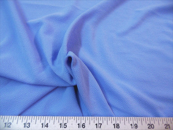 Discount Fabric Liverpool Textured 4 way Stretch Scuba Light Indigo Blue 11LP