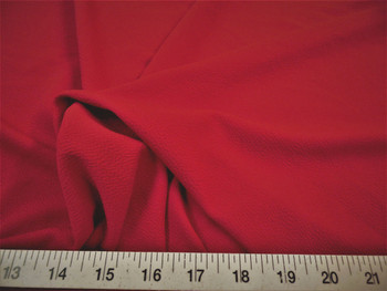 Discount Fabric Liverpool Textured 4 way Stretch Scuba Ruby Red 12LP