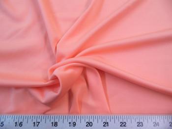 Discount Fabric Techno Scuba Polyester Spandex 4 way Stretch Peach 01TS