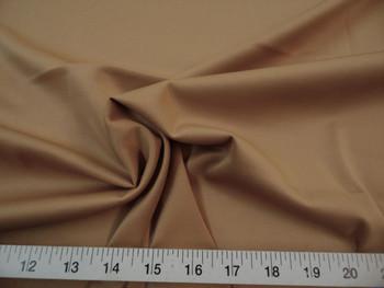 Discount Fabric Techno Scuba Polyester Spandex 4 way Stretch Camel 12TS
