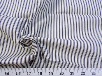 Discount Fabric Upholstery Drapery Ticking Stripe Dark Indigo / Natural 40KK