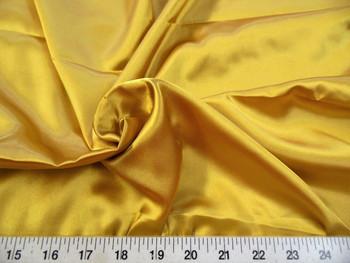 Discount Fabric Charmeuse Silky Bridal Satin Apparel Gold 02CS