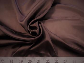 Discount Fabric Charmeuse Silky Bridal Satin Apparel Brown 09CS