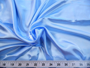 Discount Fabric Charmeuse Silky Bridal Satin Apparel Baby Blue 11CS