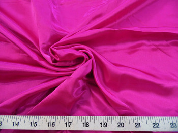 Discount Fabric Charmeuse Silky Bridal Satin Apparel Fuschia Pink 12CS