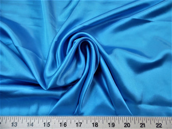 Discount Fabric Charmeuse Silky Bridal Satin Apparel Ocean Blue 14CS