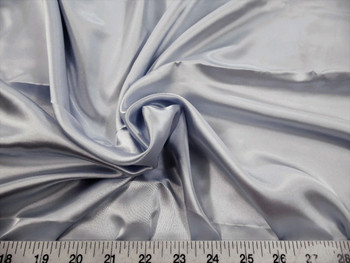 Discount Fabric Charmeuse Silky Bridal Satin Apparel Silver 15CS