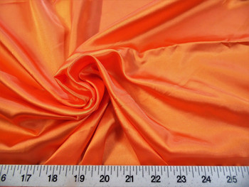 Discount Fabric Charmeuse Silky Bridal Satin Apparel Orange 16CS